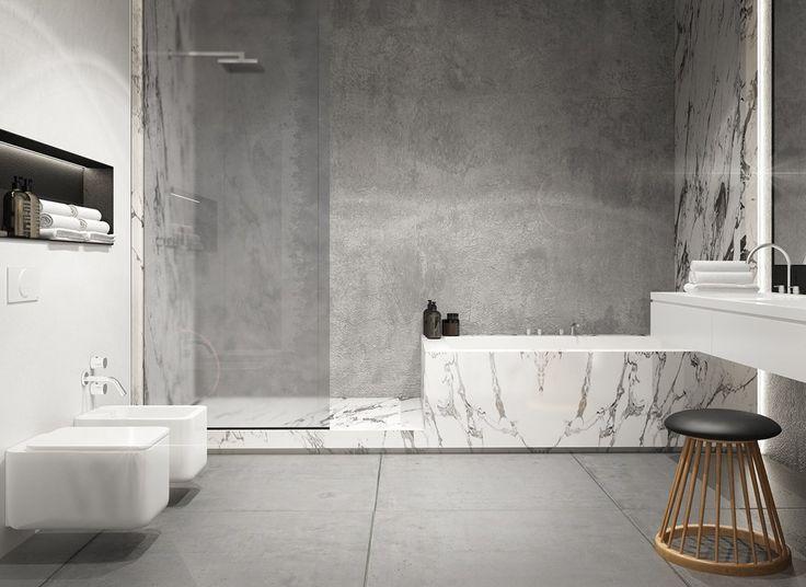 Exposed Concrete Walls Ideas Inspiration Concrete Bathroom Concrete Interiors Exposed Concrete