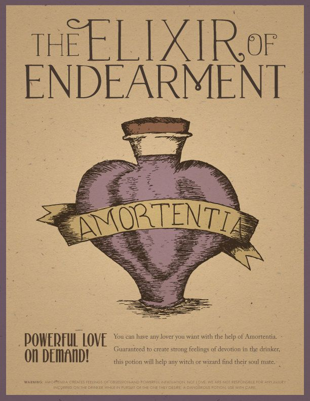 Designs Our Vintage Inspired Ad For Amortentia The Love