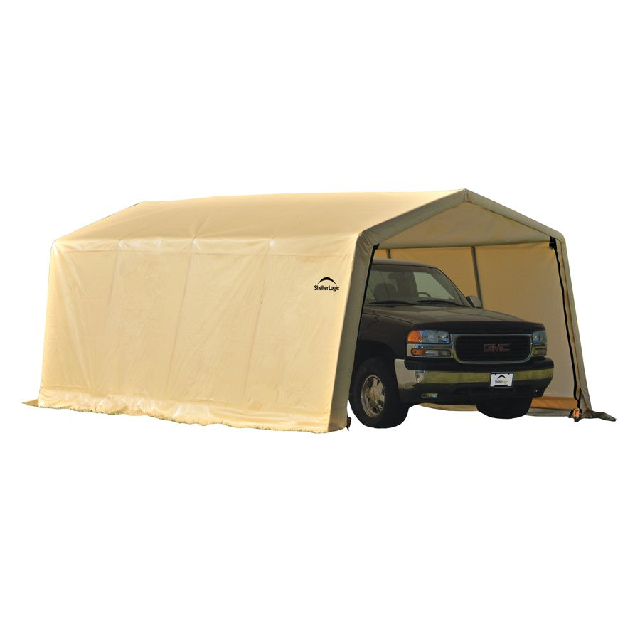 ShelterLogic 10-ft x 20-ft Polyethylene Canopy Storage ...