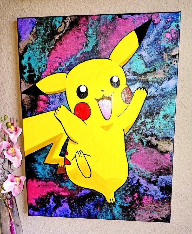 pokemon pikachu art painting iphone case
