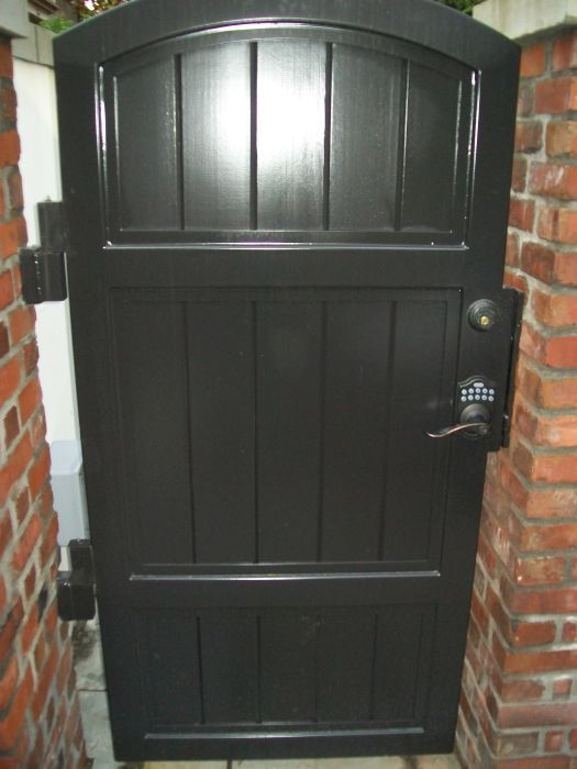 Stout Solid Iron Pedestrian Gate With Keypad Entry Ideal For