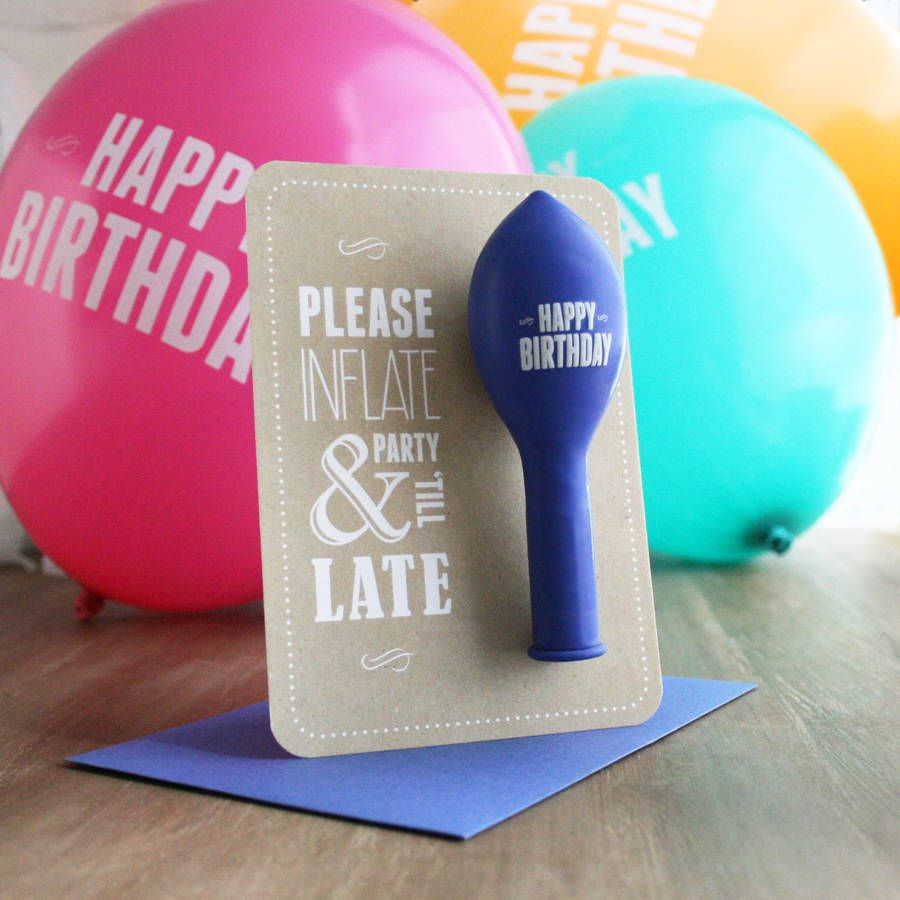 Party till late birthday balloon card are you interested in our birthday balloon card with our balloon card you need look no further bookmarktalkfo Choice Image