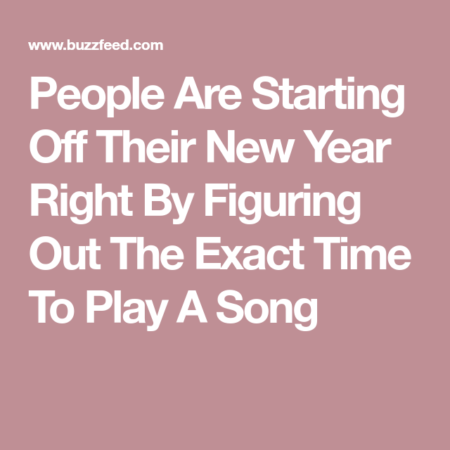 People Are Starting Off Their New Year Right By Figuring Out The