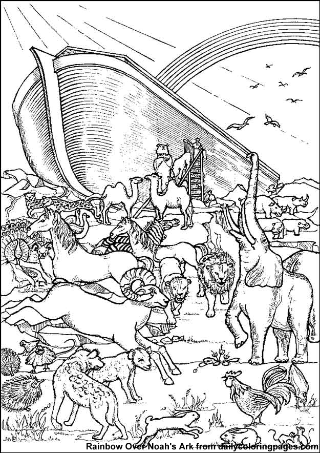 Noah\'s Ark Bible Coloring Sheets | Christian Colouring | Pinterest ...