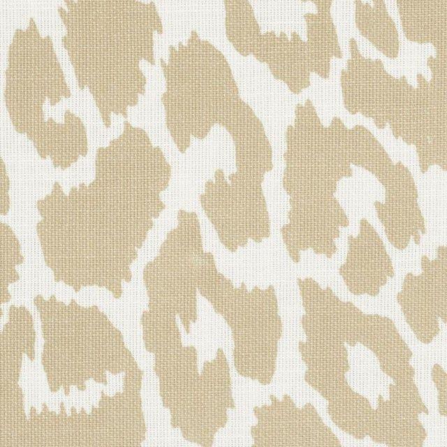 Schumacher Iconic Leopard Indoor/Outdoor Fabric in Linen
