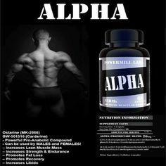 ALPHA (SARMs) 10mg of Ostarine and 10 mg of GW 501516 (cardarine