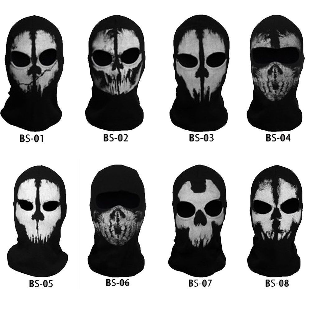 Details about Call of Duty Ghost Skull Face Mask Cosplay Balaclava ...