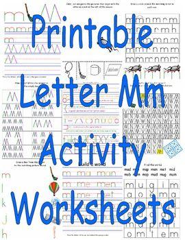 printable letter mm activity worksheets printable children 39 s activities printable letters. Black Bedroom Furniture Sets. Home Design Ideas