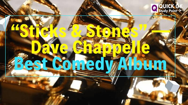 Best Comedy Album in 2020 Grammy, Grammy awards, Best rock