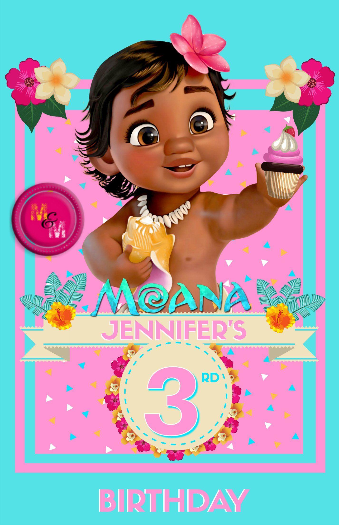 Editable Baby Moana Birthday Printable Poster Baby Moana Sign In 2021 Moana Birthday Birthday Printables Moana Birthday Invitation