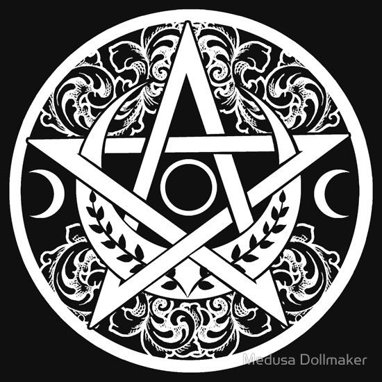 'PENTAGRAM - PENTACLE' Relaxed Fit T-Shirt by Medu