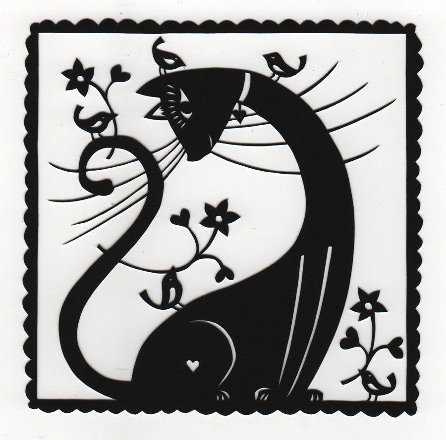 вытынанки котики скачать шаблоны - фото 7