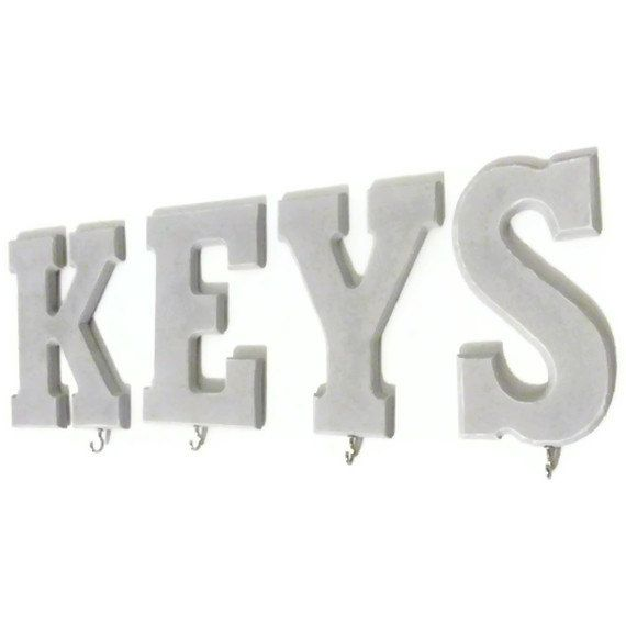 Key Hooks Wood Letters by HookUUpCustomCrafts on Etsy, $30.00