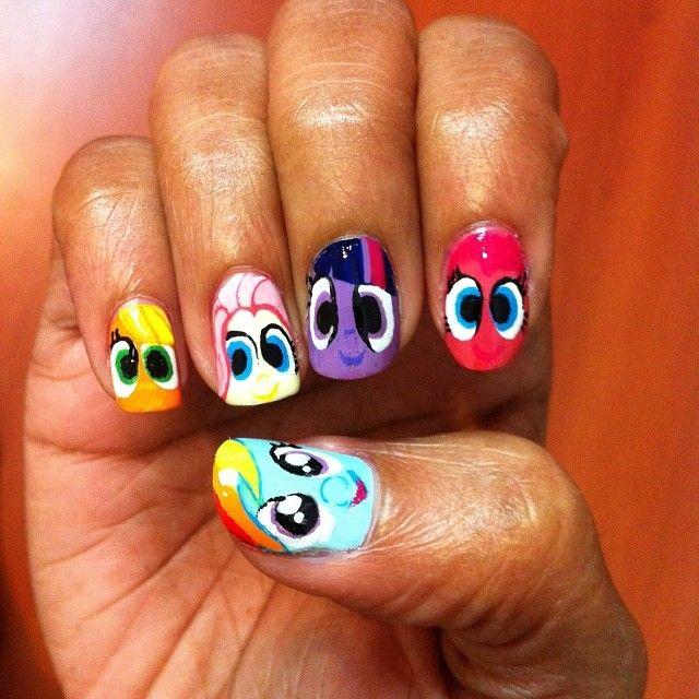 My Little Pony nail art