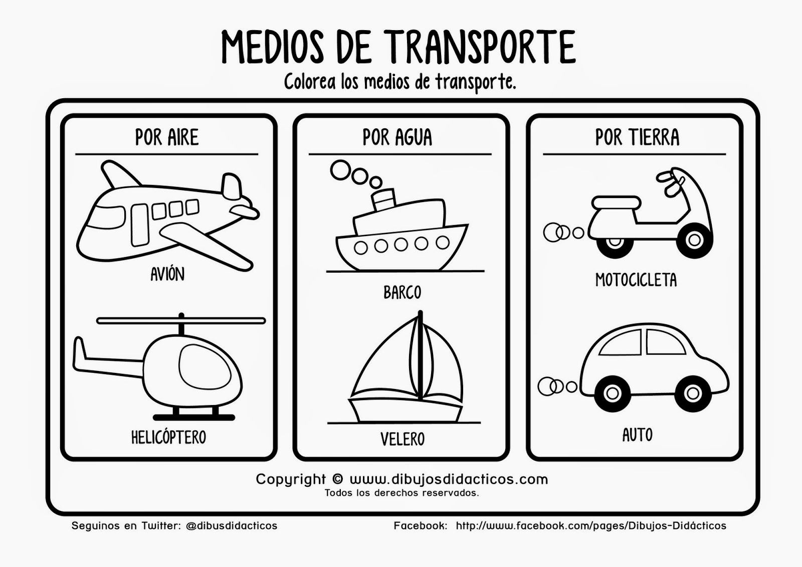 Pin De Laura Ramirez En Kinder Transporte Preescolar Medios De