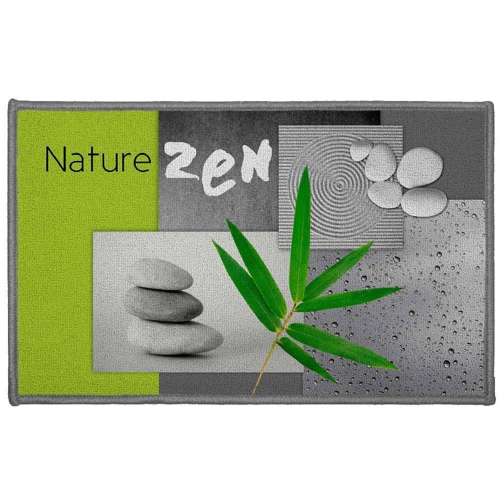Tapis Deco Imprime Nature Zen Vert Gifi 805663x Tapis Deco Tapis Et Deco