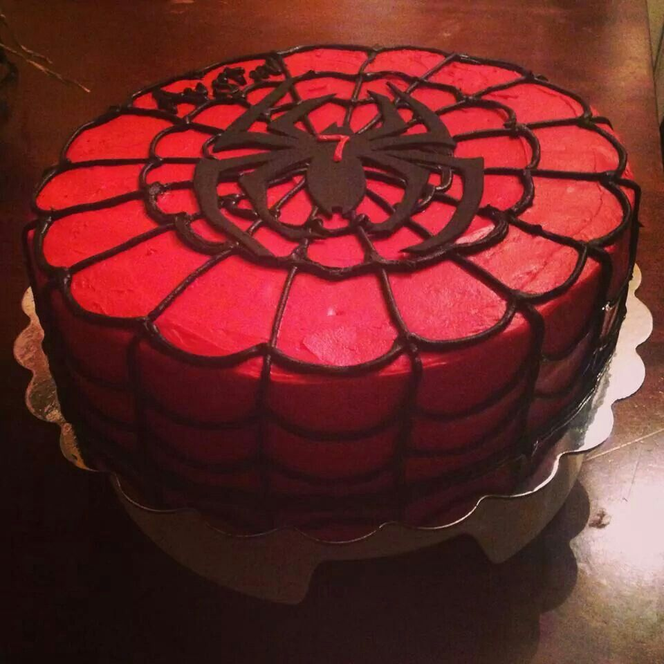 Spiderman cake! Simple!