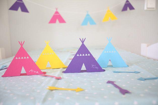 Tipi Einladungskarten Für Einen Indianergeburtstag Tischkarten Tipi Zelte /  Indianer Geburtstag/ Set. Mehr Ideen