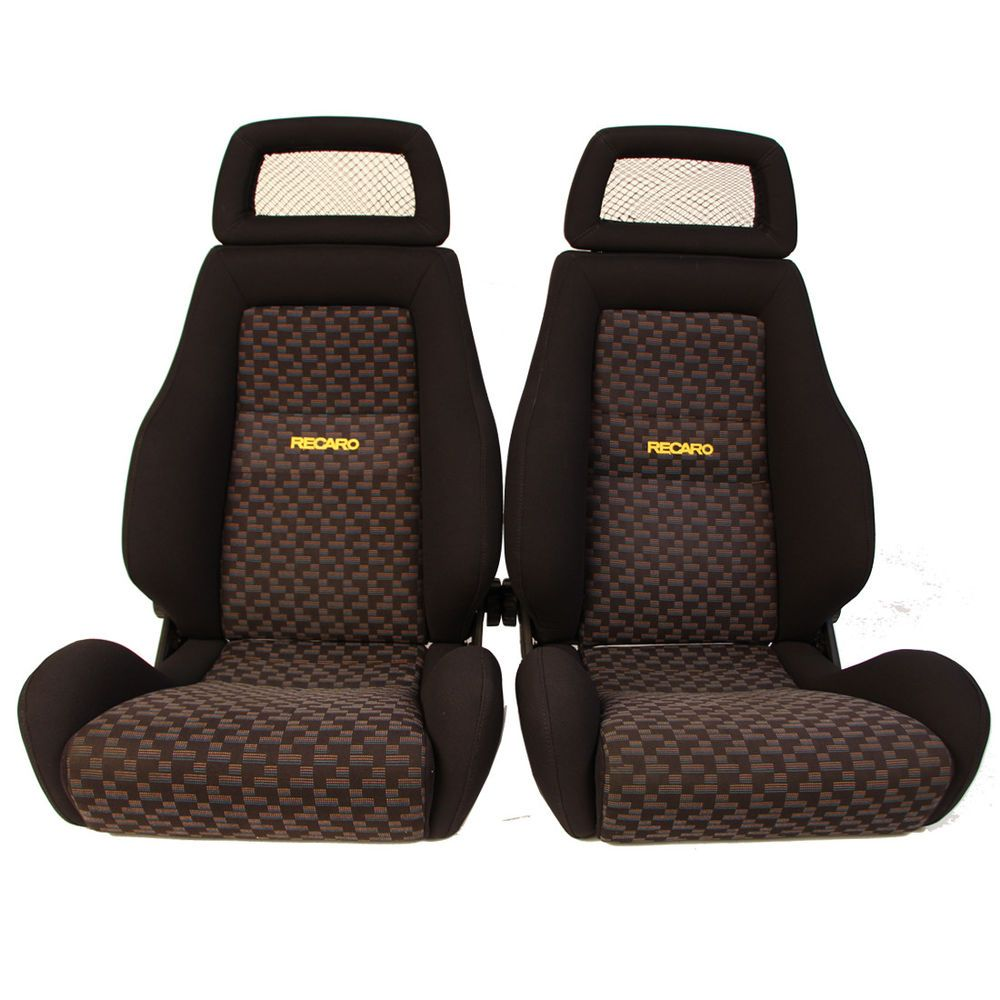 2 jdm recaro lx rare reclinable net headrest racing seats
