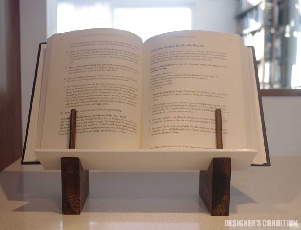 modern cookbook stand, modern bookstand, cookbook stand