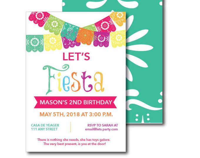 Fiesta themed invitation with envelopes printed birthday invites fiesta themed invitation with envelopes printed birthday invites with envelopes custom colors available find birthday party invites matching d stopboris Image collections