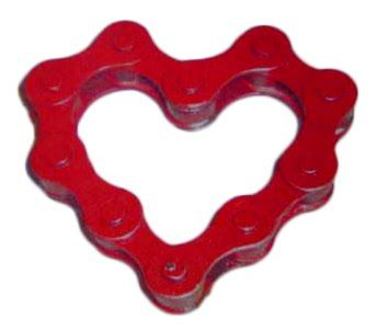 #DIY Bicycle Chain Valentine