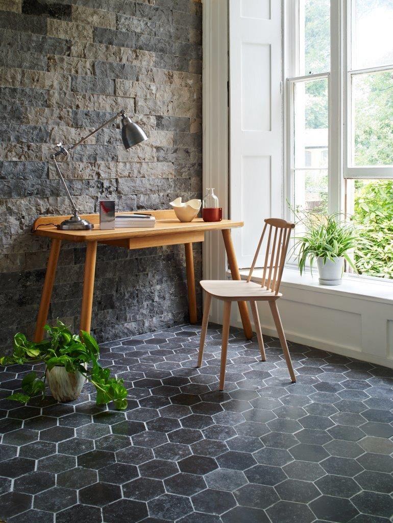 Sicilia Tumbled Marble Hexagon Floor