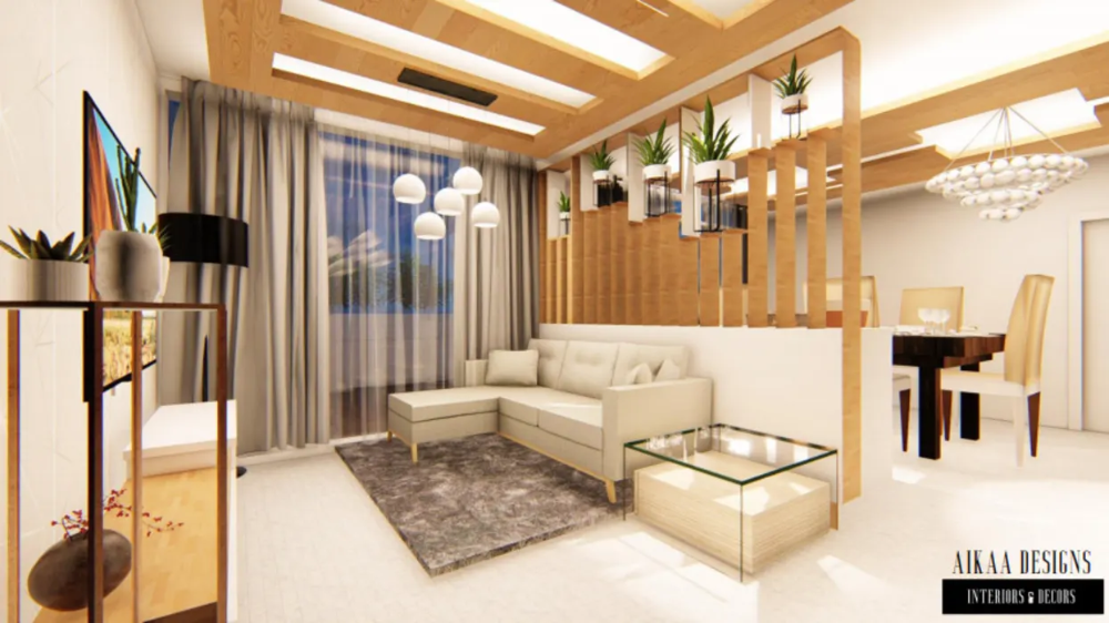 2 BHK FLAT AT BANGALORE by Aikaa Designs in 2020 ...