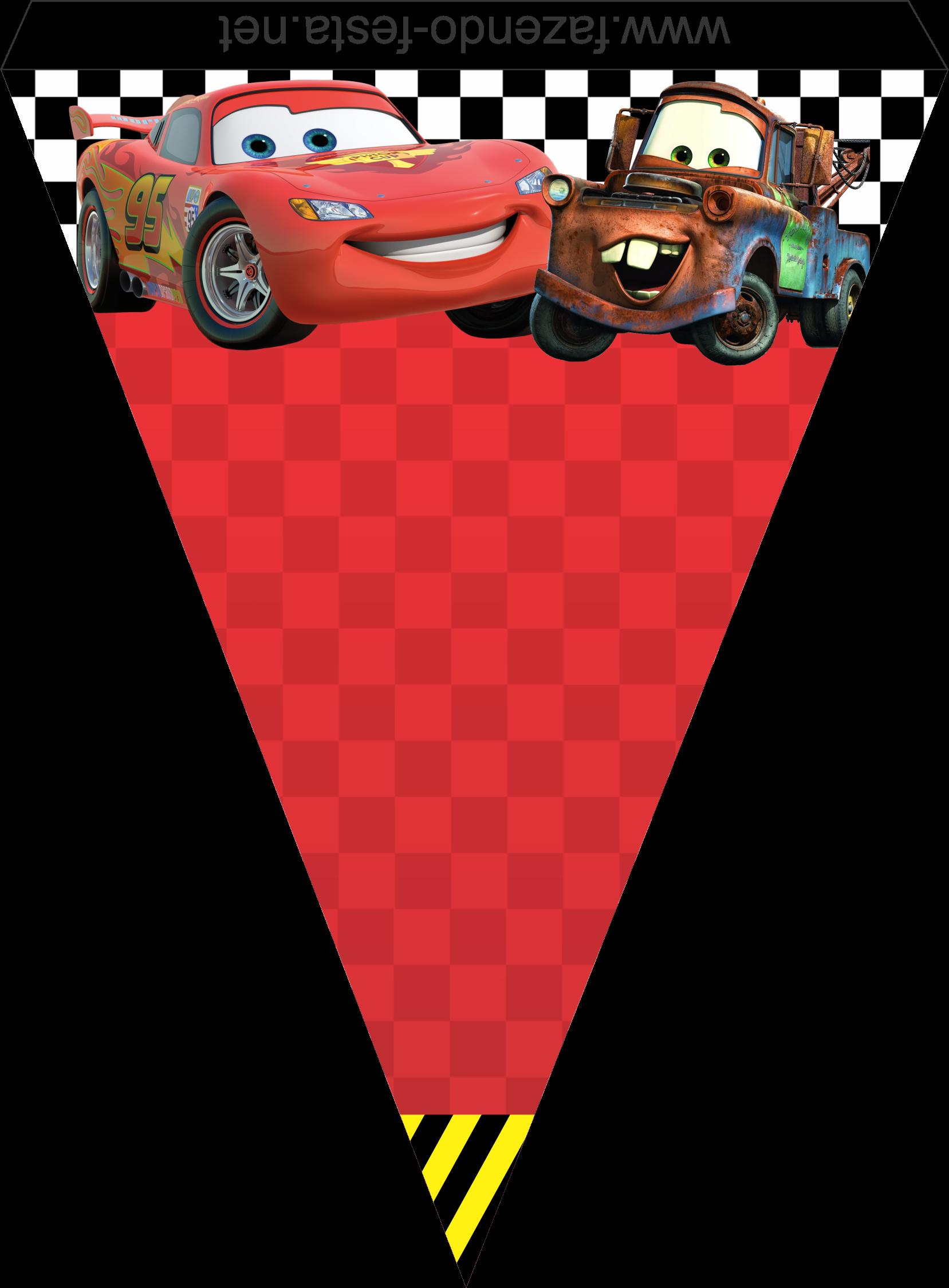 como hacer banderines de cars para imprimir - Buscar con Google | fiesta de los niños ...