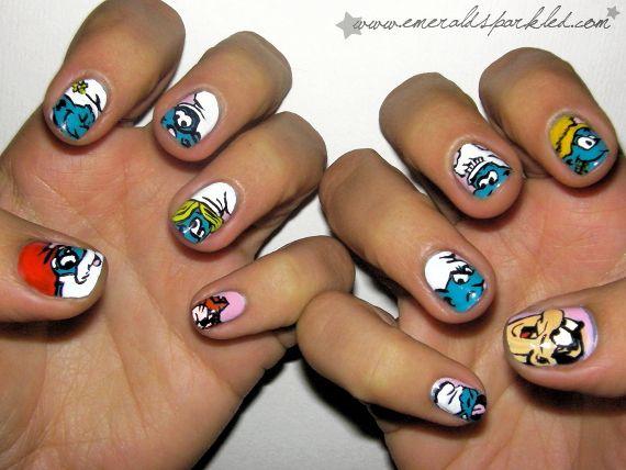 Smurf Fingernails!!
