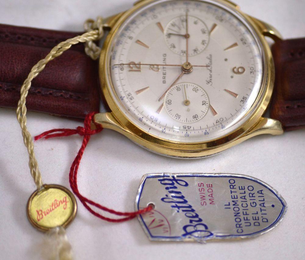 Unico!!! Cronografo Vintage Breitling Giro D'Italia con Targhette Originali  | eBay