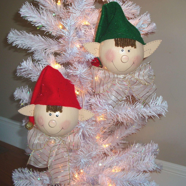 Elvis And Elvin Elf Ornaments Set Of 2 Christmas Ornament Etsy Christmas Decorations Ornaments Diy Christmas Ornaments Christmas Ornaments