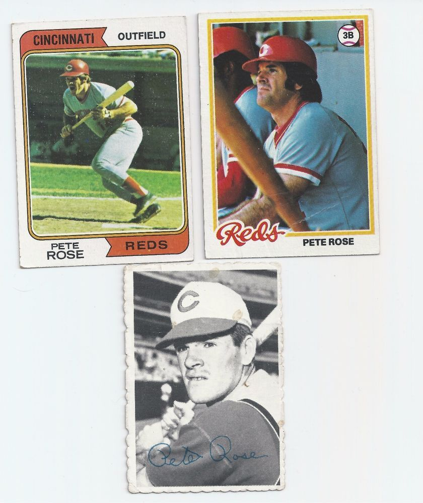 1974, 1978 & 1969 Pete Rose Baseball Cards MLB