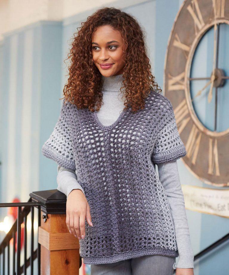 TwoRectangle Sweater Free Crochet Pattern Black crochet