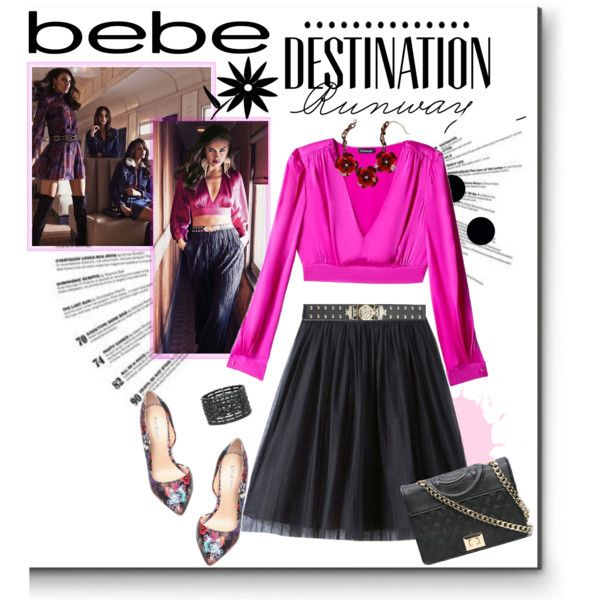A fashion look from October 2015 featuring Bebe tops, Bebe skirts and Bebe pumps. Browse and shop related looks.