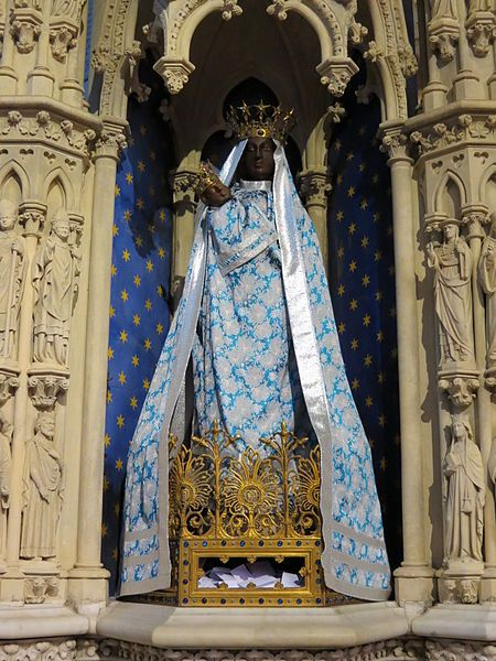 Church Of The Black Madonna Black Virgin Mary At Notre Dame Cathedral Black History Black