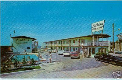 Alabama Court Motel Panama City Beach Florida 1960 S Postcard Panama City Beach Florida Panama City Beach Panama City Panama