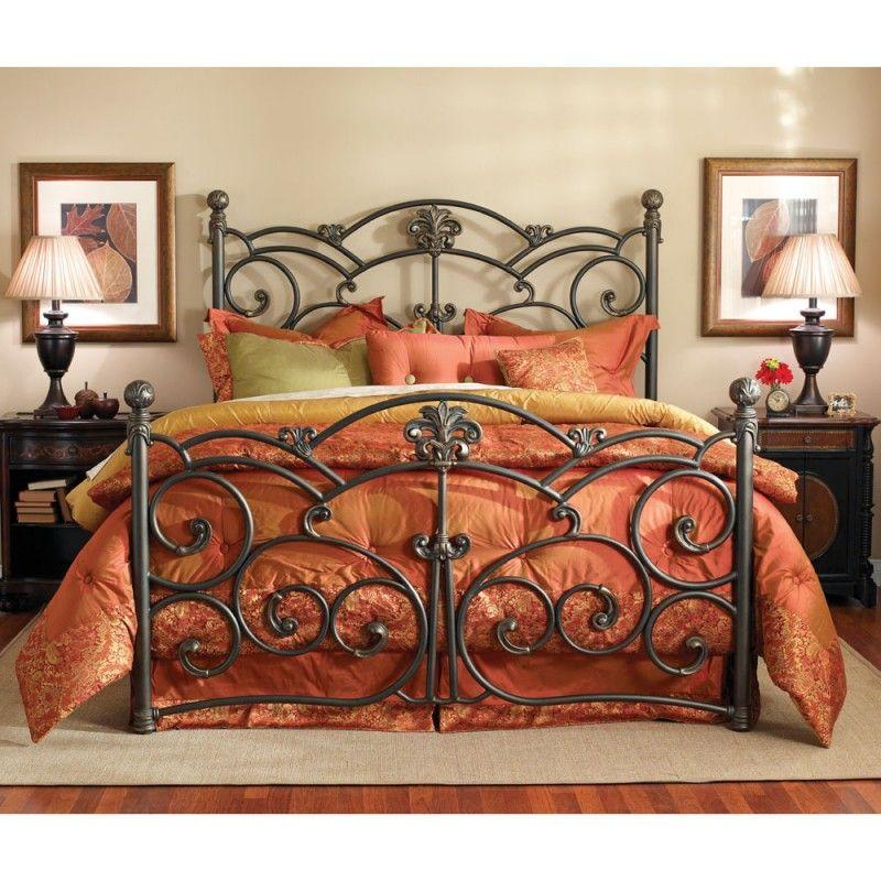 Wesley Allen Lucerne King Bed WACB1430K Wrought iron