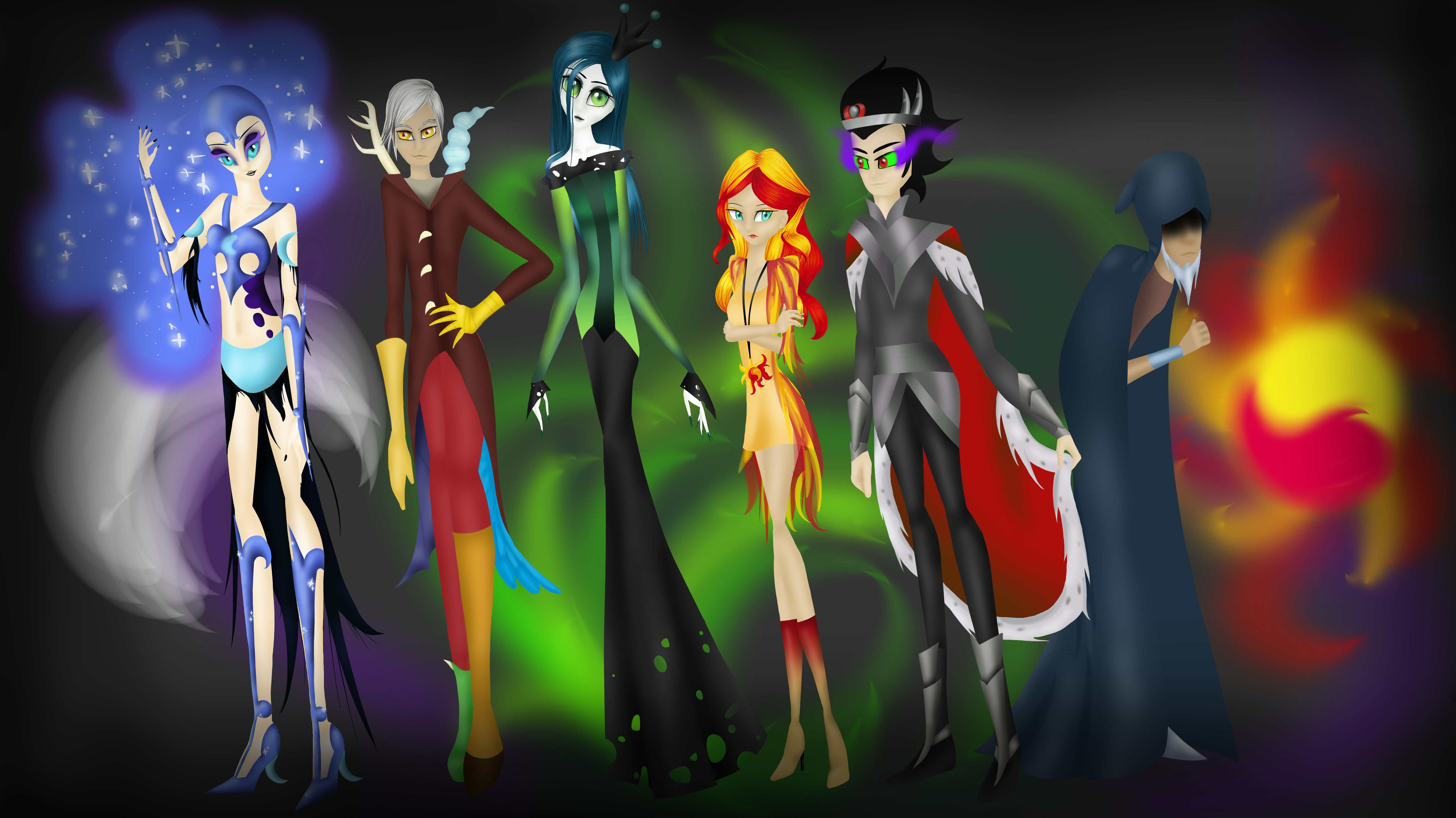 What Are The Six Main Elements Of Art : Elements of disharmony major villain six by yuntaoxd