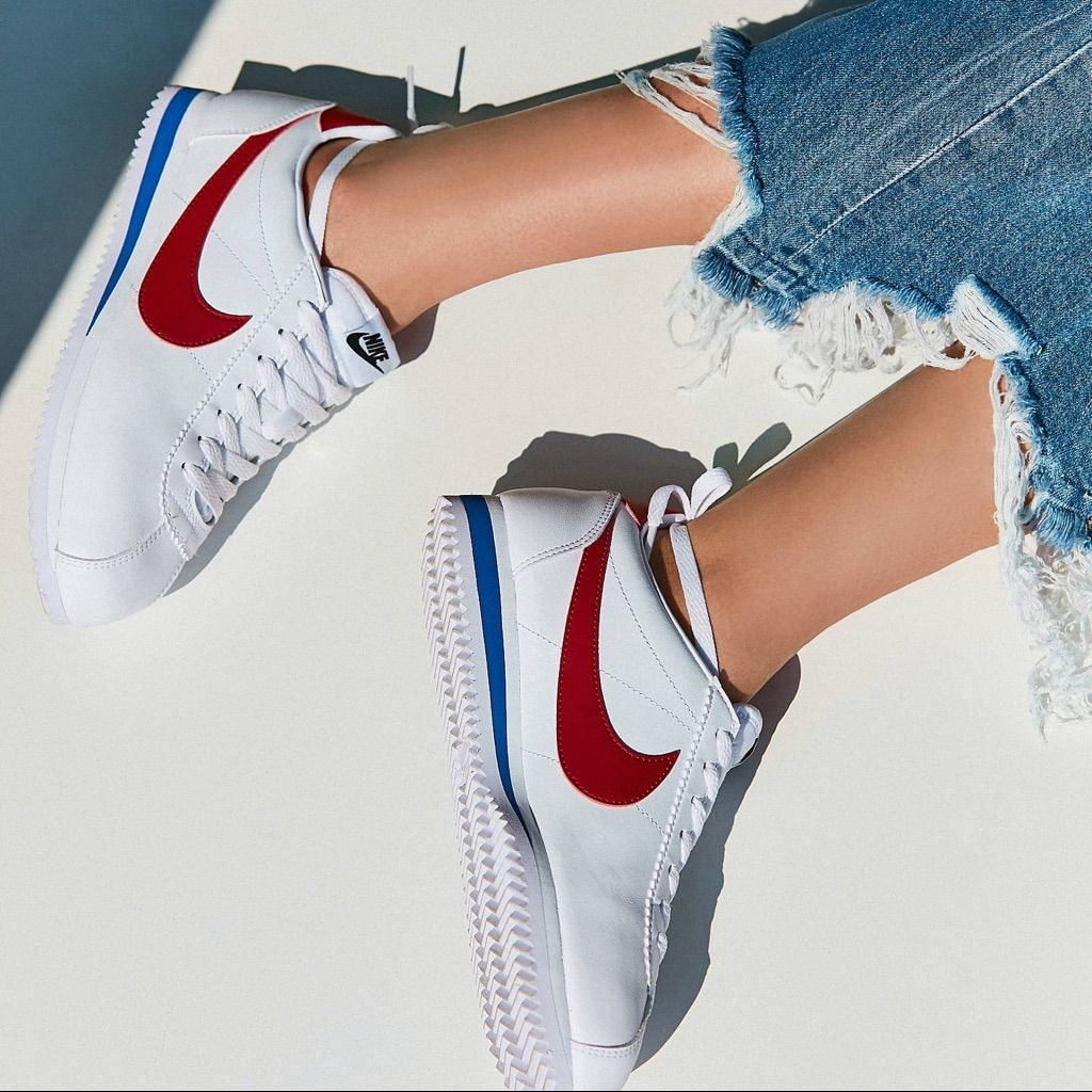 red nike cortez womens