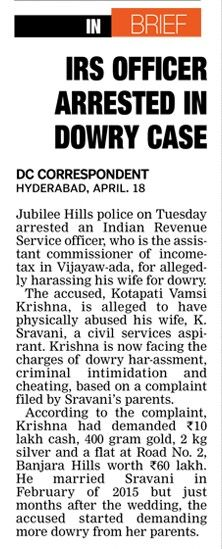 K Vamsi Krishna An Indian Revenue Service Irs Officer Was