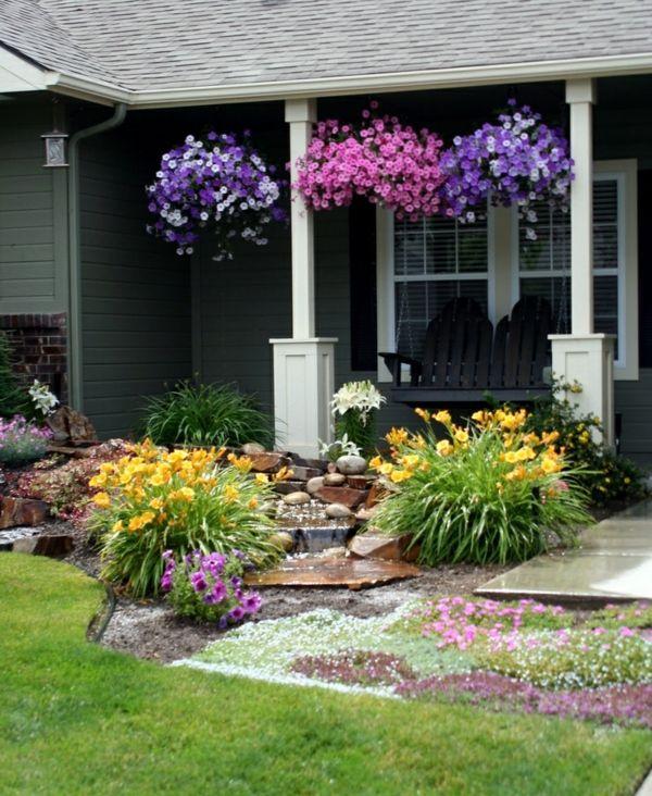 Patio Design Ideen - Vorgarten gestalten Flora Bushel - outdoor patio design ideen