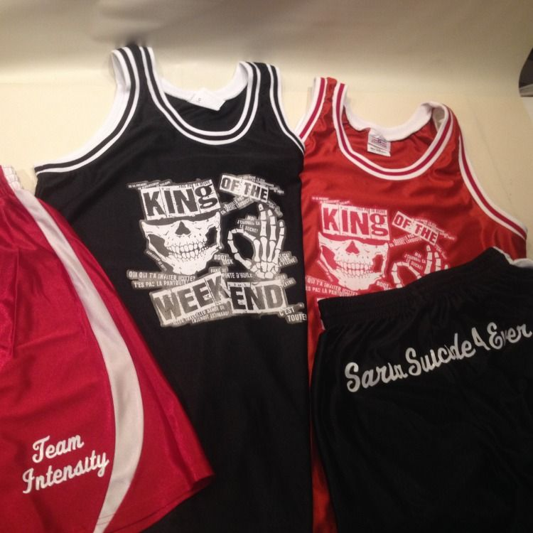 54db46951 These customized Old School basketball jerseys have incredible detail and look  awesome.