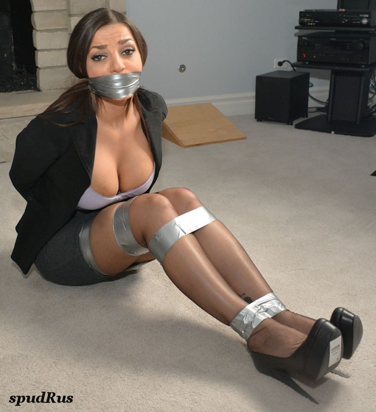 BANDANA BOUND AND GAGGED AND BLINDFOLDED!