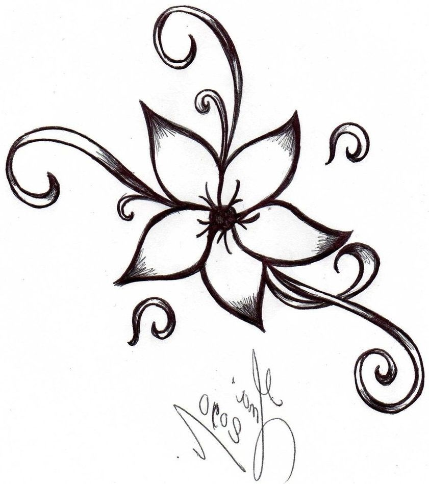 Cool And Easy Flowers To Draw Simple Flower Designs Clipart Bestjpeg 841x949