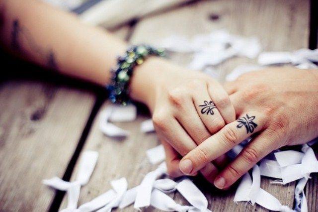 Bohemian Cool Tattoos Awesome Wedding Ring Tattoos