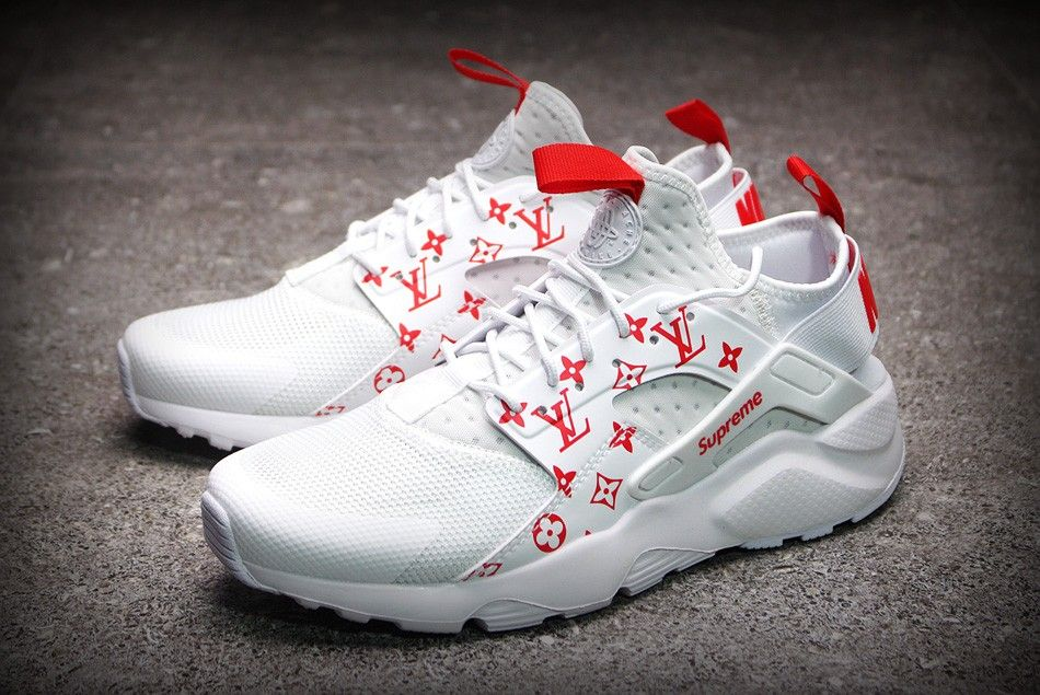 376fbe290d80 Supreme x Nike Air Huarache Run Ultra White Red Men s and Women s Size  819685-106
