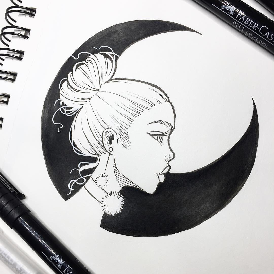 Black Moon U2022. Drawing DesignsDrawing IdeasDrawing ...