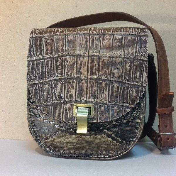 b91ef0aa9d9f Женская сумка №3 из натуральной кожи крокодила. Авторская ручная работа, с  ремешком через