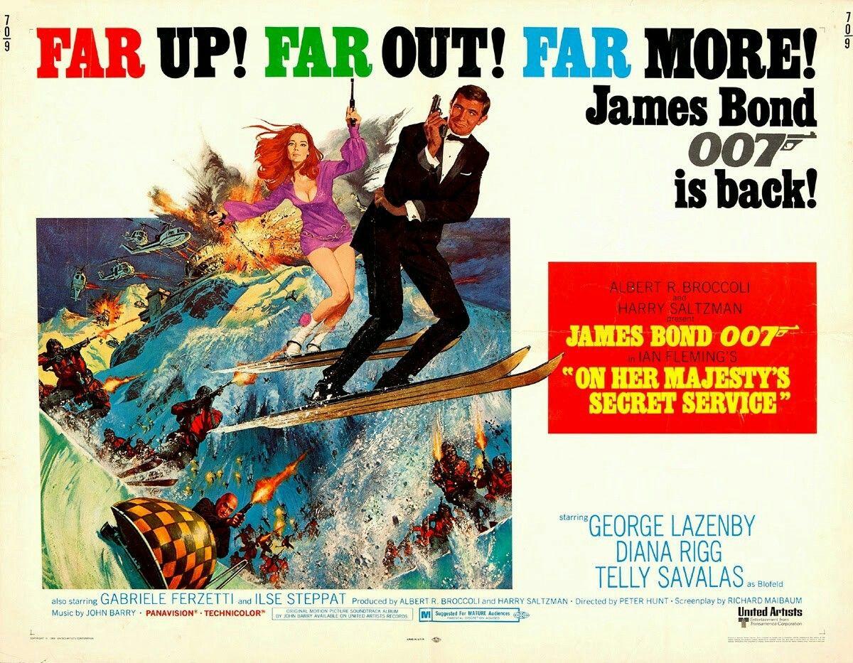 On Her Majesty/'s Secret Service Movie Poster Print 1963 1 Sheet Art Action